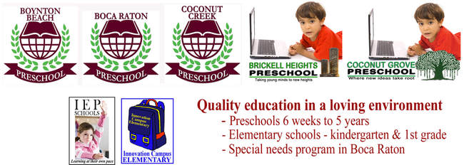 BOCA RATON PRESCHOOL, COCONUT CREEK PRESCHOOL, BOYNTON BEACH PRESCHOOL